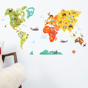 Large world map wall decal wayfair world map wall decal gumiabroncs Images