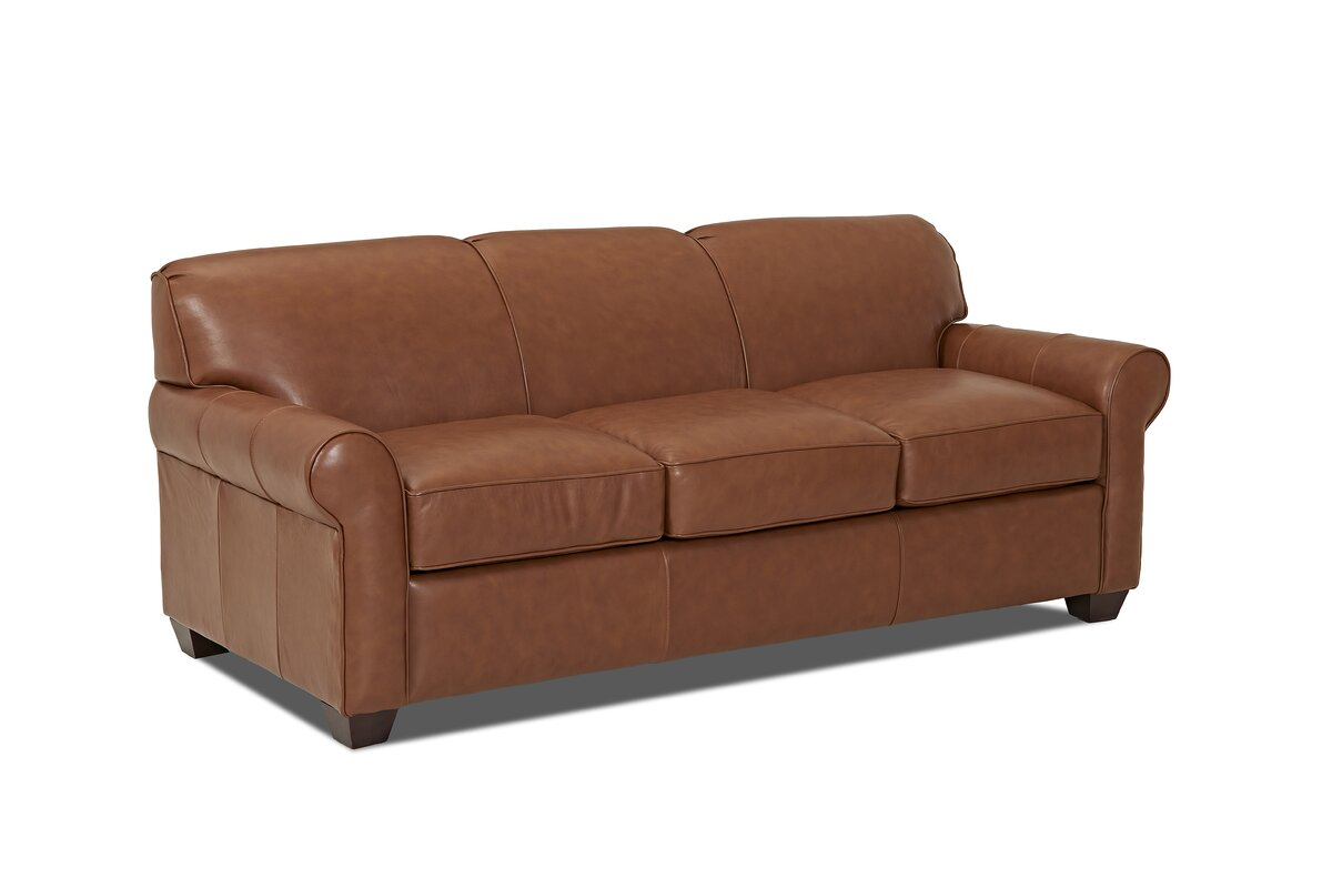 Wayfair Custom Upholstery™ Jennifer Leather Sleeper Sofa & Reviews