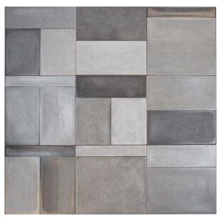 Civil 8 X Ceramic Mosaic Tile In Brown Gray Ivory