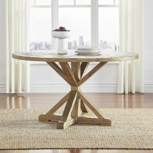 peralta round rustic dining table