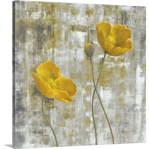 'Yellow Flowers I' by Carol Black Painting Print on Canvas