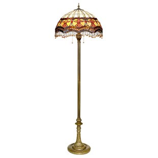 Victorian floor lamps wayfair victorian parlor tiffany 63 floor lamp aloadofball Gallery