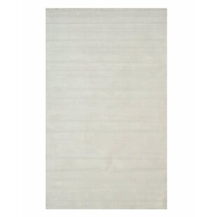 Reviews Gerrish Viscose Solid Random Hand-Woven White Area Rug By Everly Quinn