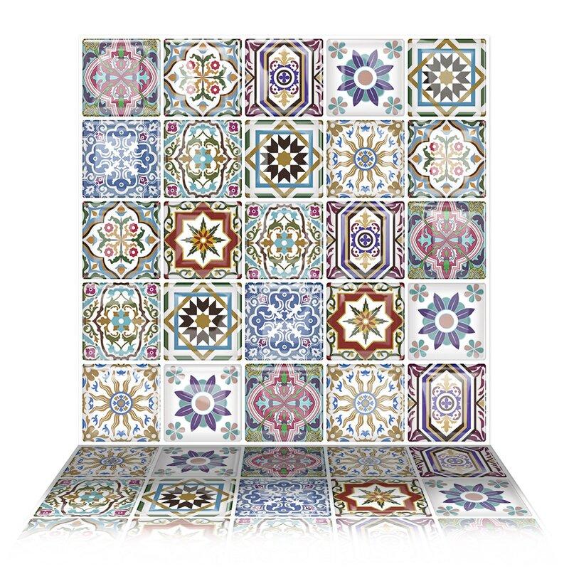 Tictactiles 10 Quot X 10 Quot Pvc Peel Amp Stick Mosaic Tile In Blue