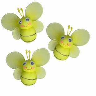 Jessi Bumblebee Hanging Bee 3D Decor Set Of 3