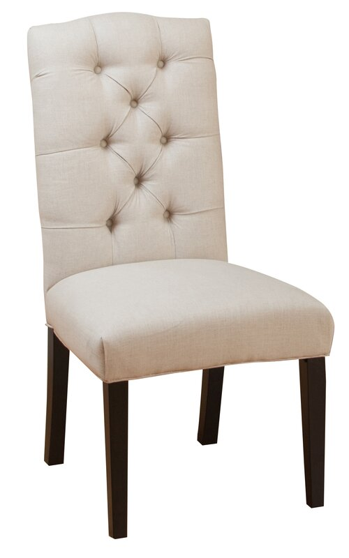 Awesome Rockville Tufted Linen Side Chairs