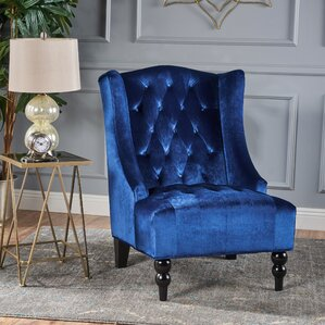 potterslane highback new velvet club chair