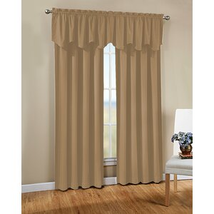 Joyce Solid Semi-Sheer Rod Pocket Single Curtain Panel