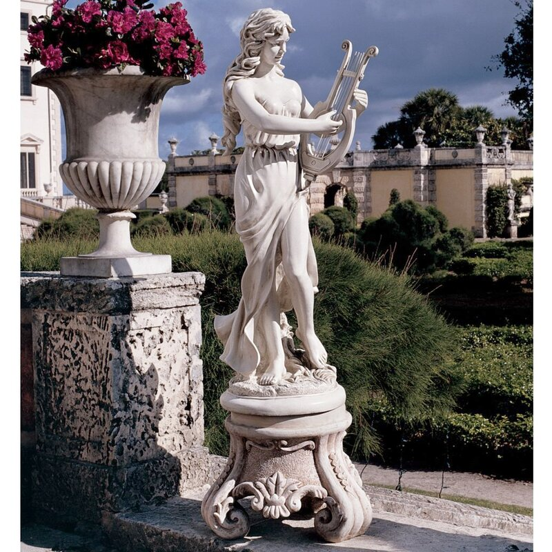 Garden Statues Yonkers: Design Toscano Muse With Harp Statue & Reviews