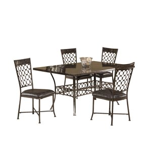 Lunde 5 Piece Dining Set by Red Barrel St..