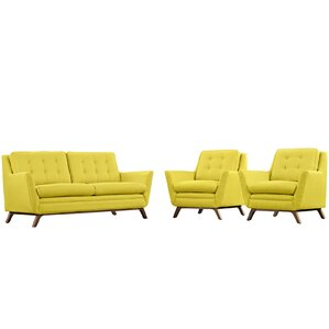 Beguile 3 Piece Living Room Set by Modway