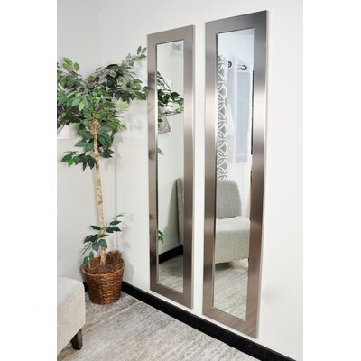BrandtWorksLLC Stainless Grain Silver Tall Floor Mirror   Wayfair