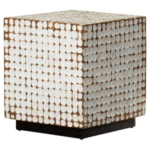 Sherlyn Handcrafted Square End Table