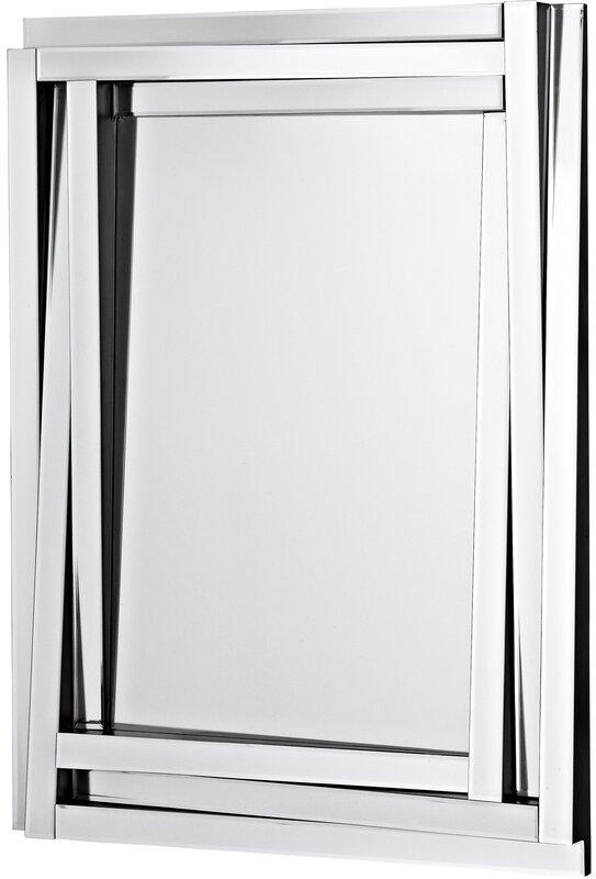 Majestic Mirror Modern Wood Framed Rectangular Beveled