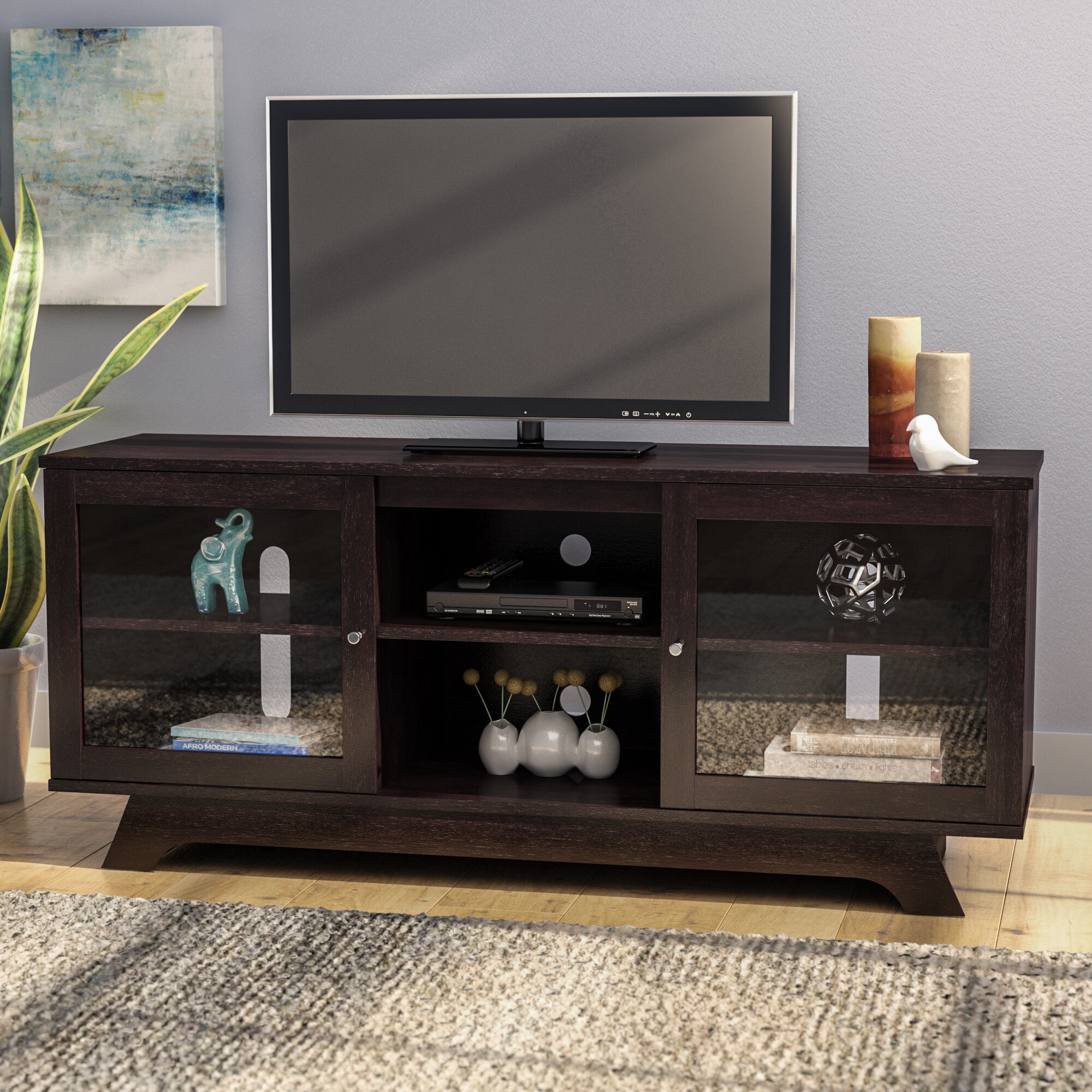 Latitude Run Lisinski Tv Stand For Tvs Up To 55 Reviews Wayfair