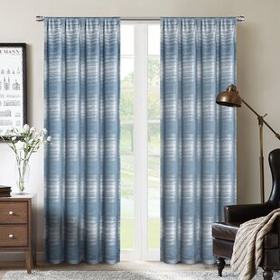 c725b255 Blue Striped Blackout Curtains You'll Love | Wayfair