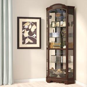 Ferron Lighted Corner Curio Cabinet by Da..