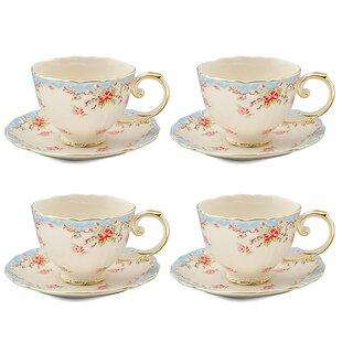 Tea Cup And Saucer Set Of 4