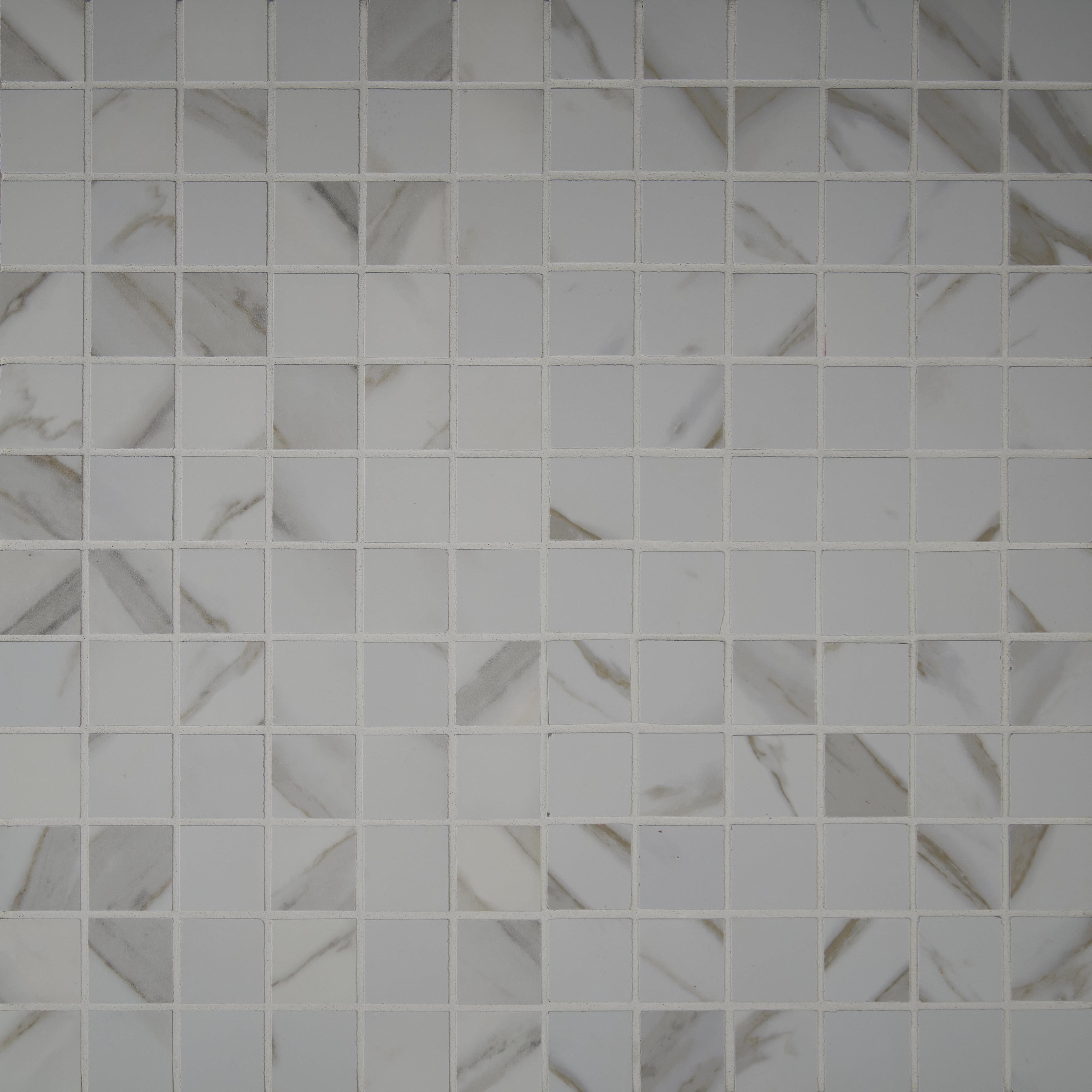 Msi Pietra Calacatta 2 X Porcelain Mosaic Tile In White Reviews Wayfair