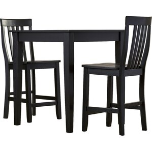 Pittman 3 Piece Pub Table Set with Tapered Leg Table and Barstools by Charlton Home