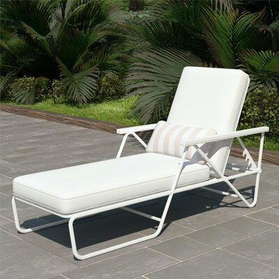 Metal Reclining Outdoor Chaise Amp Lounge Chairs You Ll Love