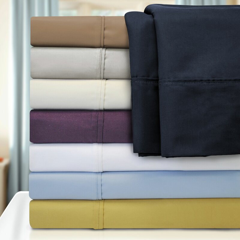 Genial Cotton Rich 1000 Thread Count Olympic Queen Solid Sheet Set