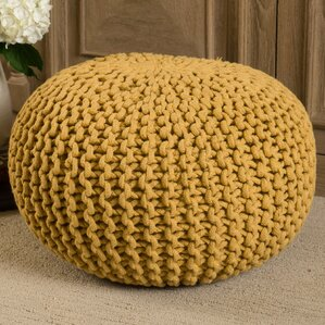 Hesperia Fabric Pouf Ottoman by Bungalow Rose
