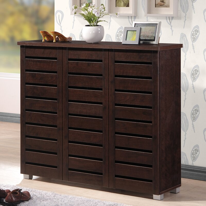 Darby Home Co 20-Pair Slatted Shoe Storage Cabinet & Reviews | Wayfair