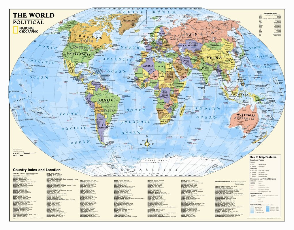 National geographic maps kids political world wall map grades 4 12 kids political world wall map grades 4 12 gumiabroncs Gallery