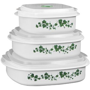 Impressions Callaway Microwave Cookware 3 Container Food Storage Set