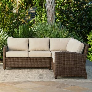 Kiana Wicker Sectional With Cushions