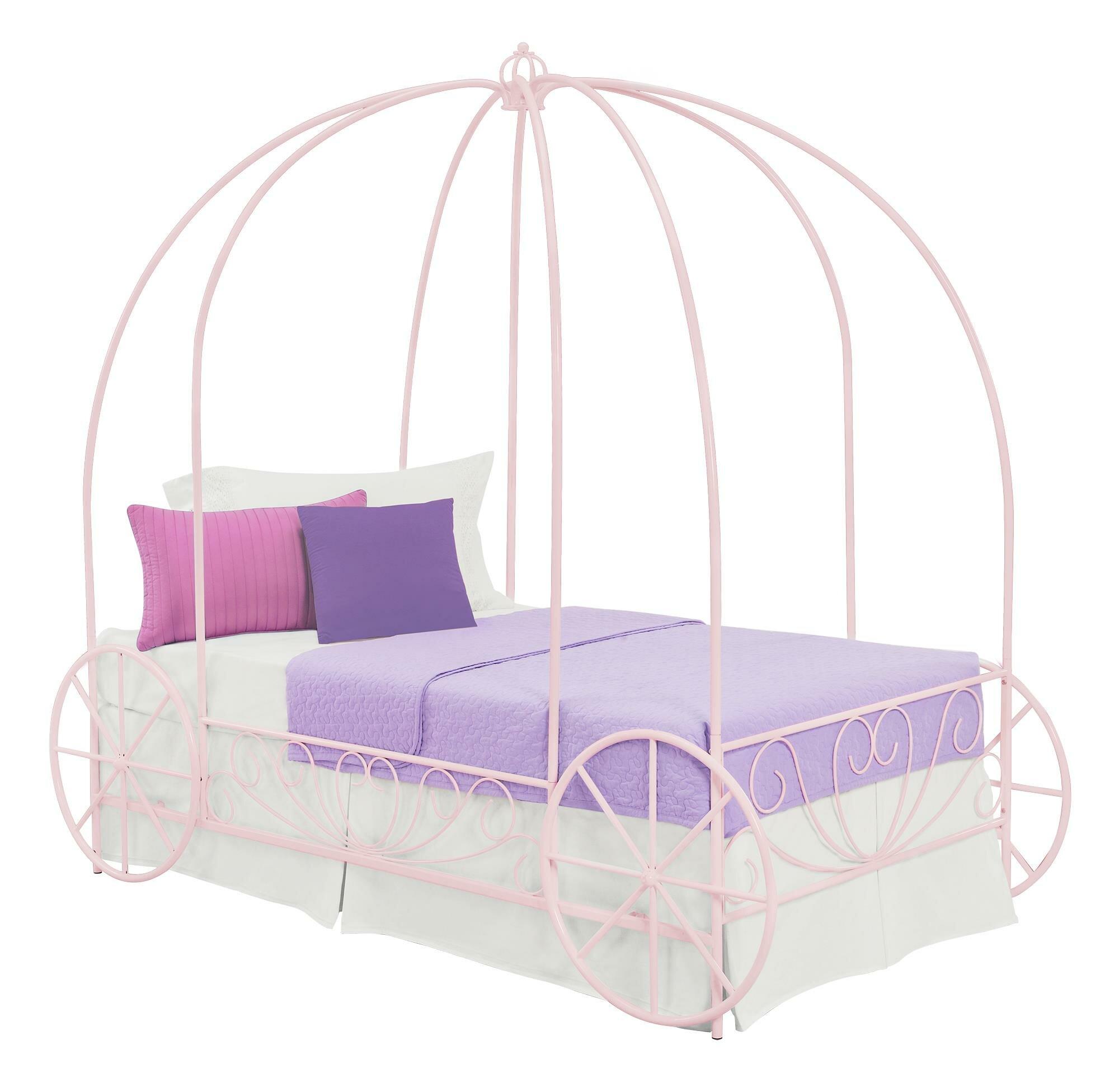 sc 1 st  Wayfair & Zoomie Kids Brandy Twin Canopy Bed u0026 Reviews | Wayfair