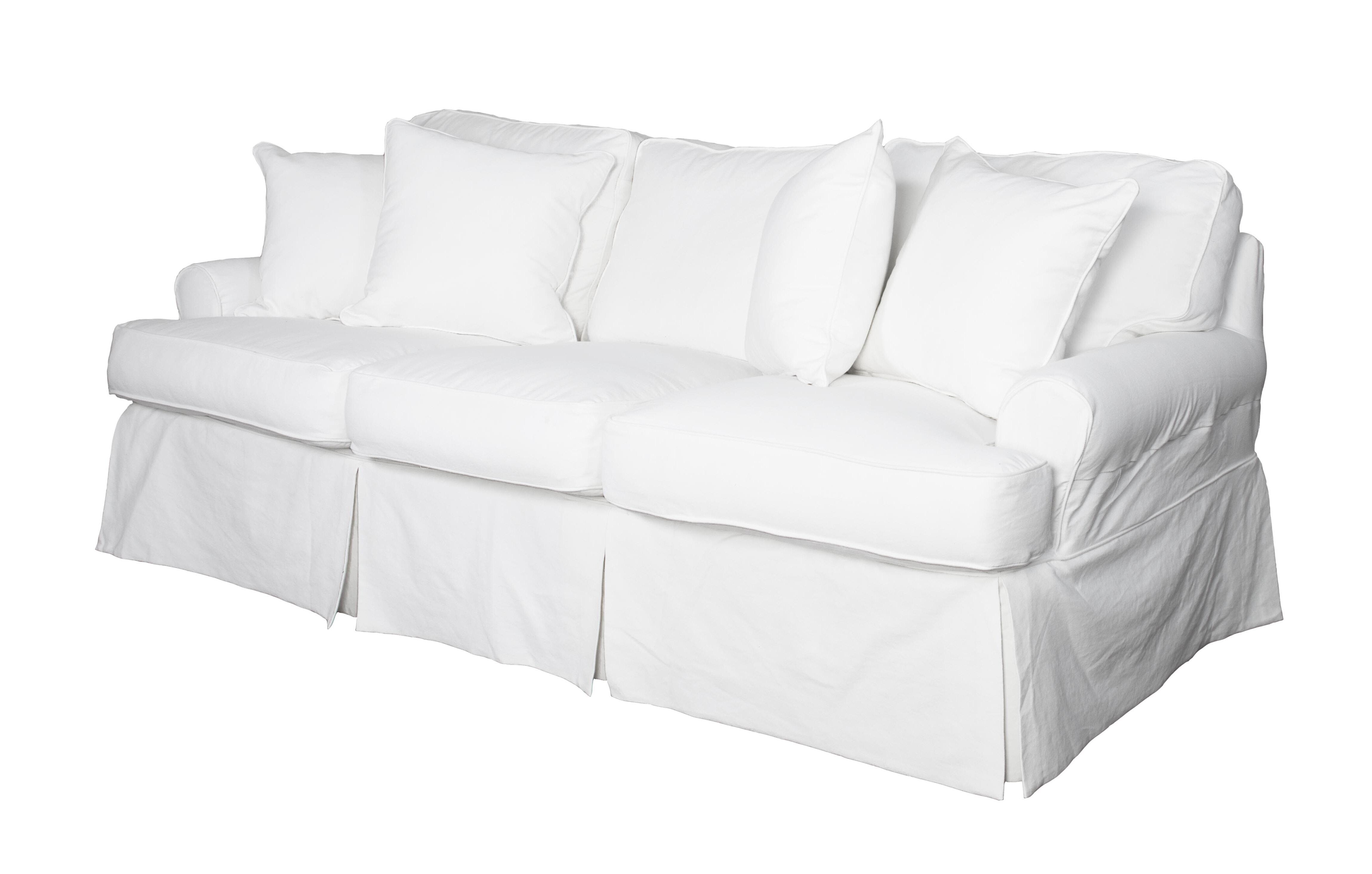 Beachcrest Home Rundle T-cushion Sofa Slipcover & Reviews | Wayfair