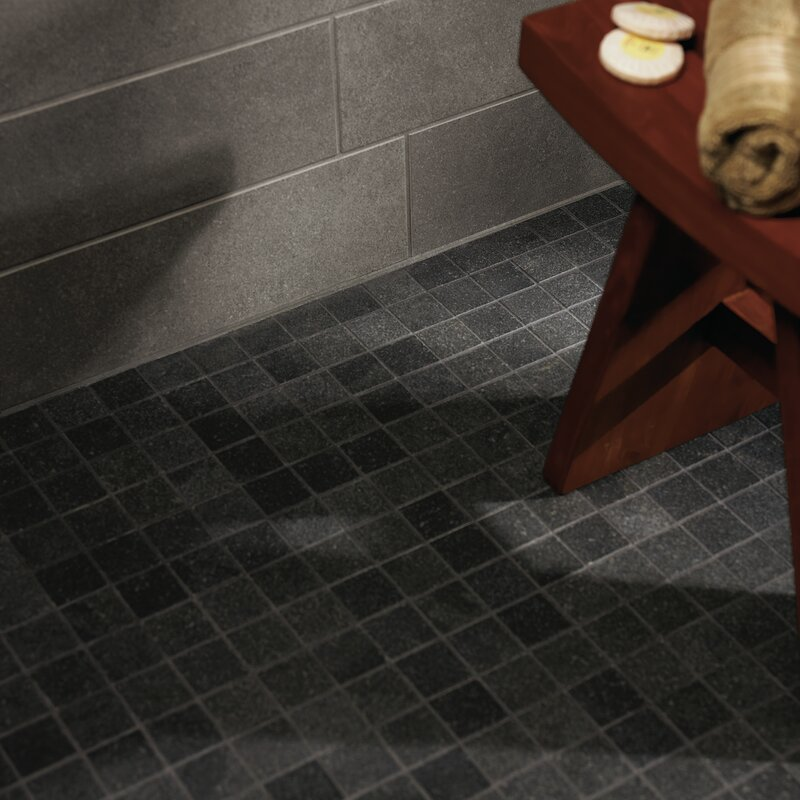 Pixl Central Station 2 X 2 Porcelain Mosaic Tile In Charcoal Wayfair