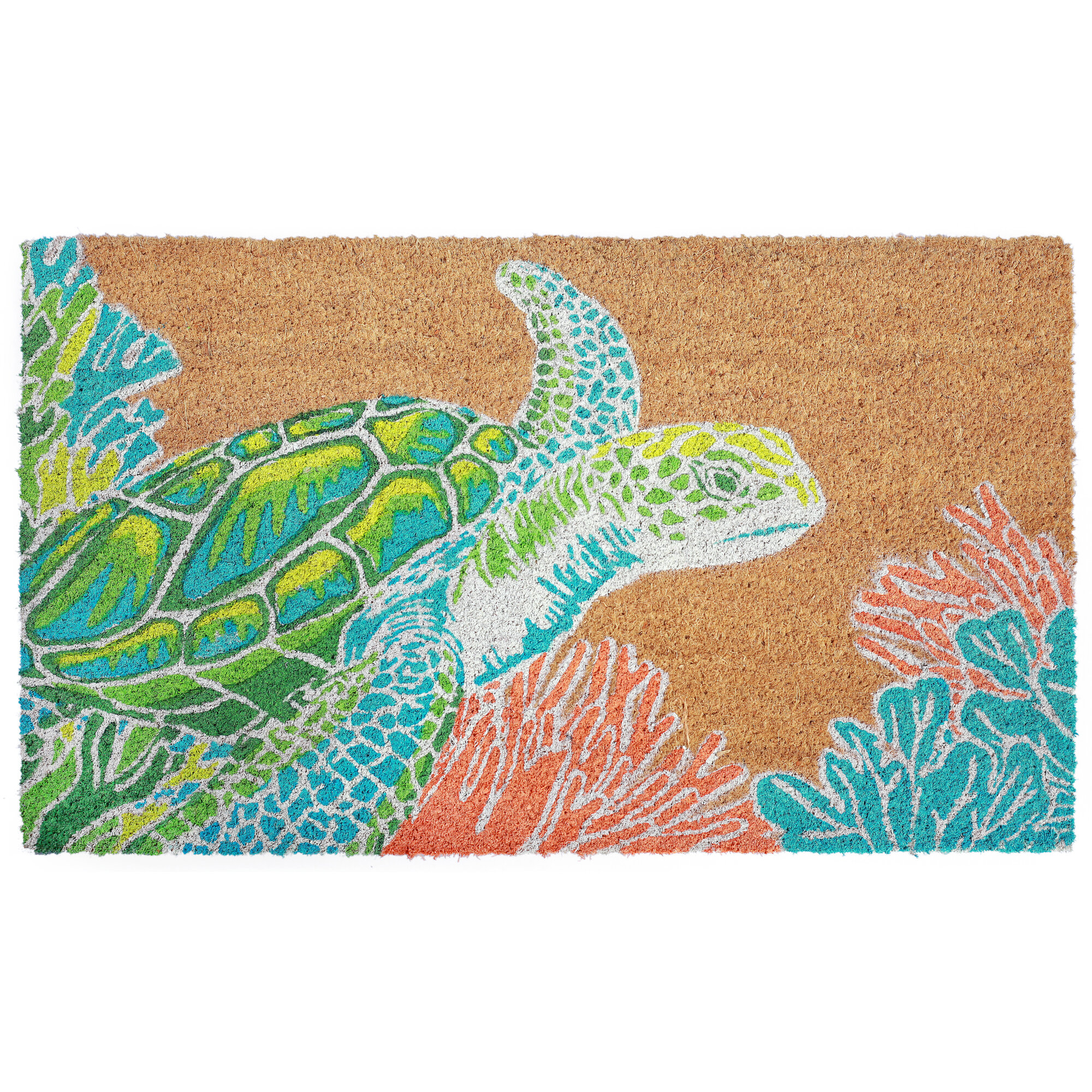 443ac0ed8 Highland Dunes Blais Sea Turtle Door mat   Reviews