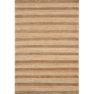 Jute Hand-Woven Natural Striped Area Rug