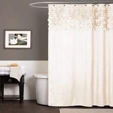 Modern Ivory & Cream Shower Curtains | AllModern
