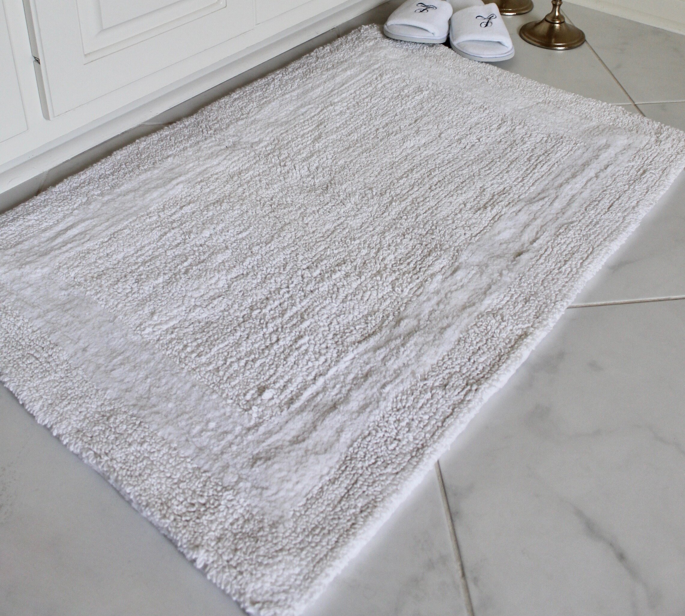 Tonio Reversible Cotton 2 Piece Bath Rug Set