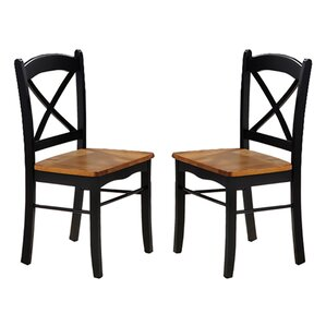 Allis Solid Wood Dining Chair (Set of 2) by Loon Peak