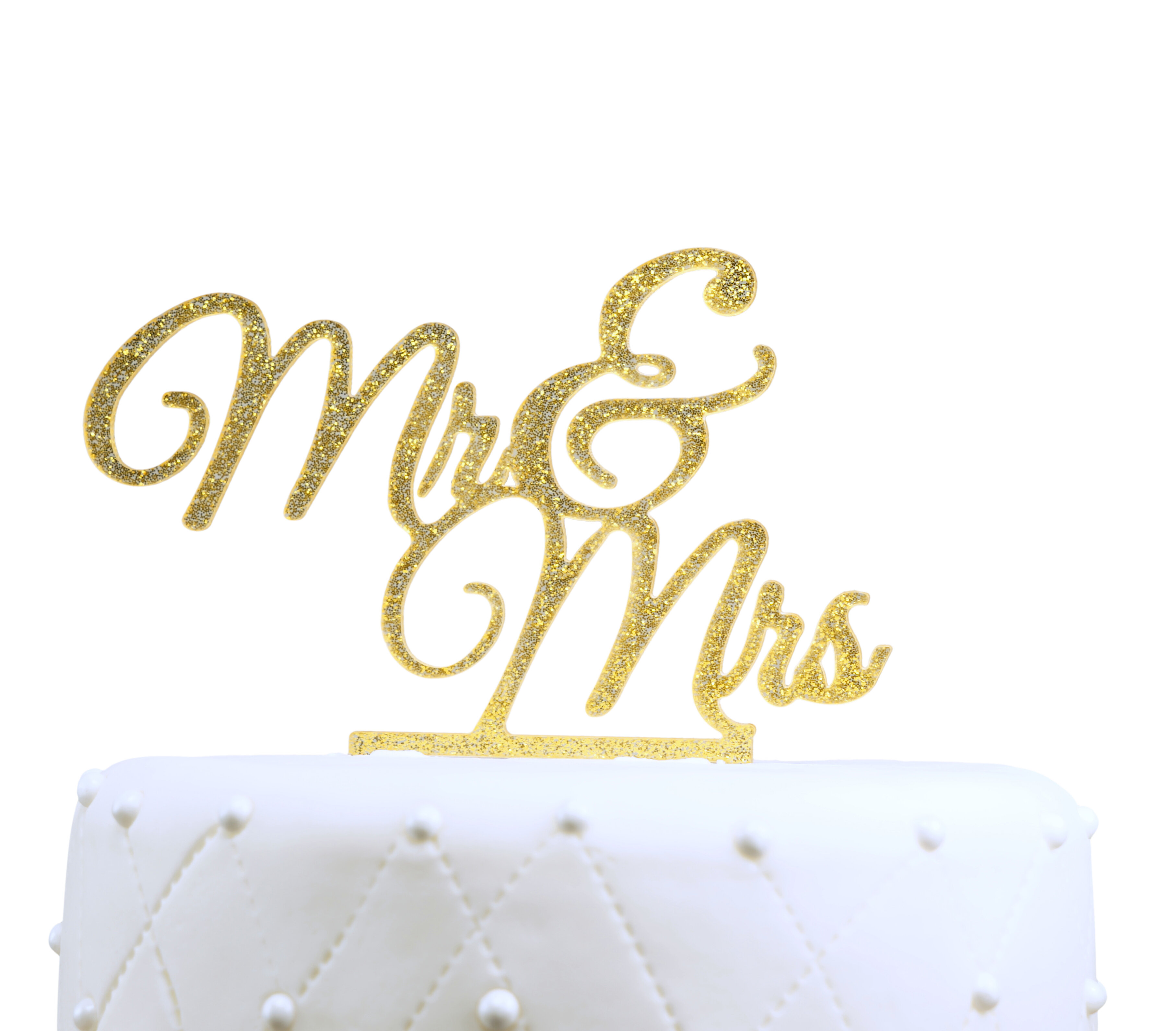 Le Prise Mr. & Mrs. Elegant Acrylic Cake Topper | Wayfair