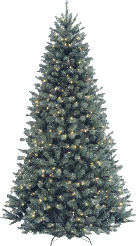 National Tree Co. North Valley Spruce 7.5' Blue Artificial ...