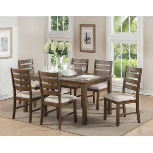 Wickliffe Wooden 7 Piece Dining Set Best Choices