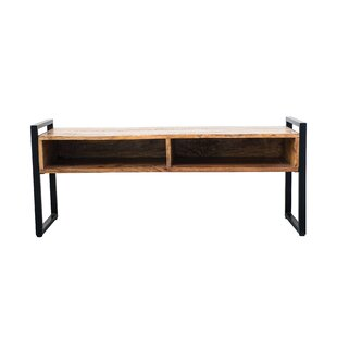Nilda Metal Wood Storage Bench