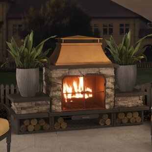 Stone Outdoor Fireplaces You Ll Love Wayfair