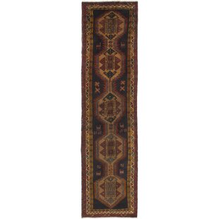 One Of A Kind Meshkin Hand Knotted Runner 2 11 X 12 5 Wool Black Brown Area Rug