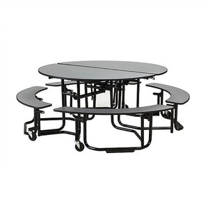 Round Table With Bench Wayfair