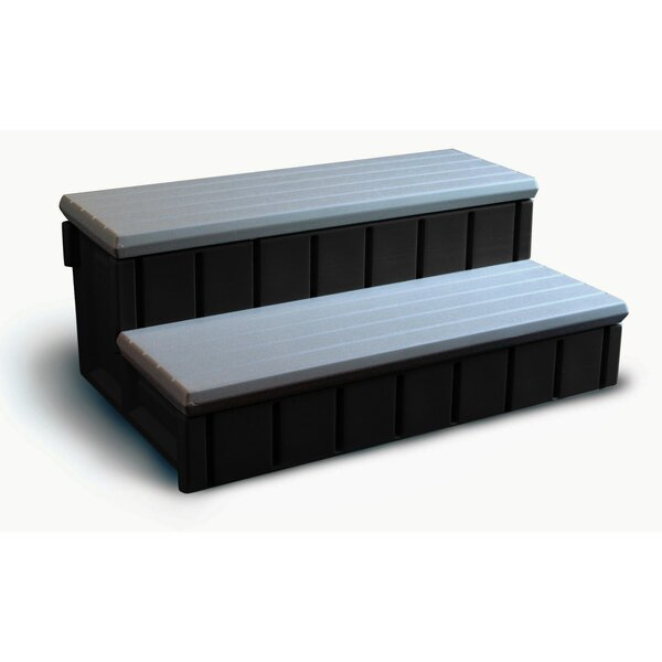 Confer Plastics Spa Step With Storage In Gray Amp Reviews