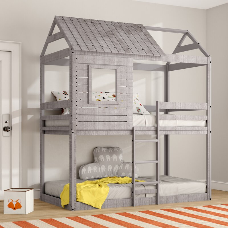 Harriet Bee Beadnell Twin Over Twin Bunk Bed Amp Reviews