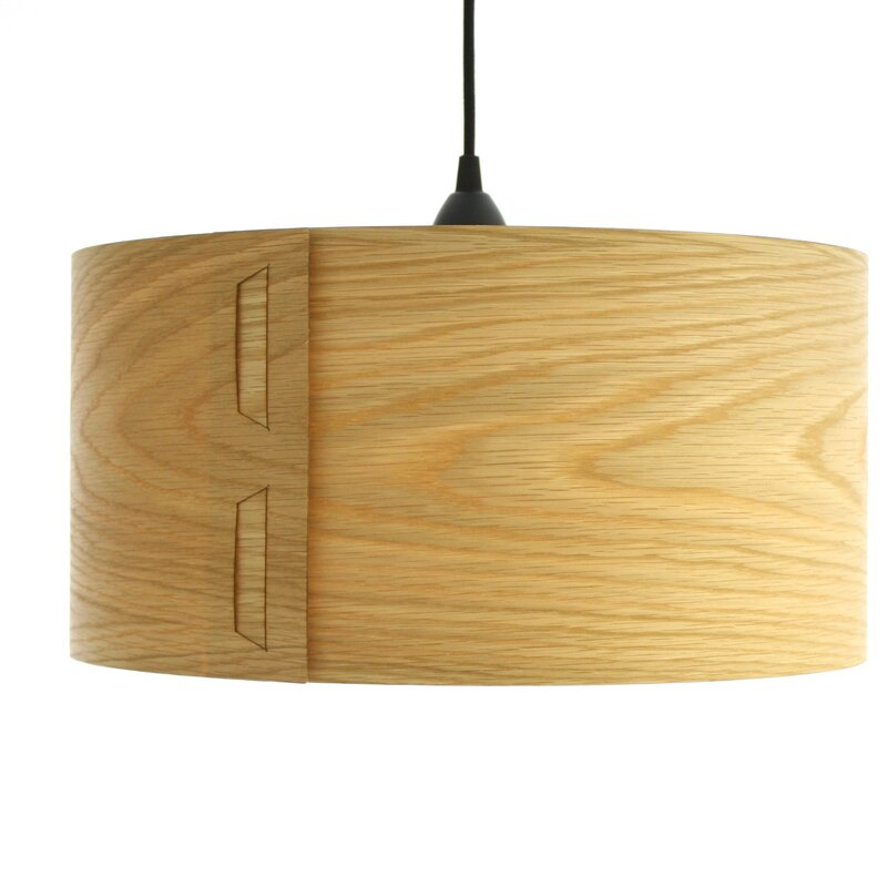 Cesar 40cm Real Wood Veneer Lamp Shade