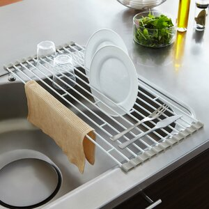 Plate Folding Sink Drainer Rack